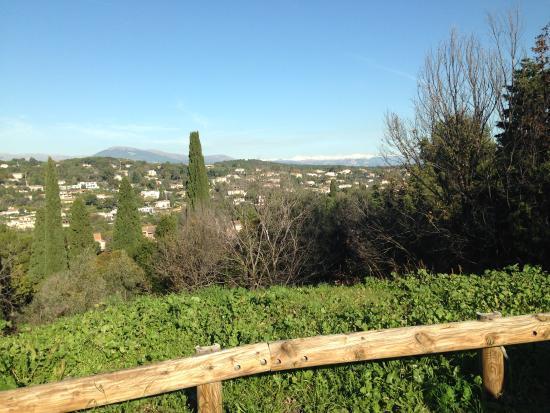 Le Rendez Vous de Mougins : Vue du village sur le Mercantour