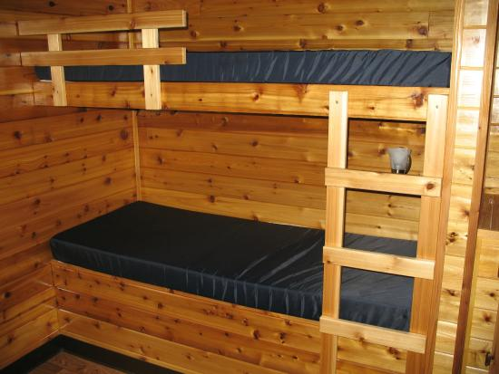 Bunk Beds In Deluxe Cabin Picture Of Erie Koa Mckean Tripadvisor