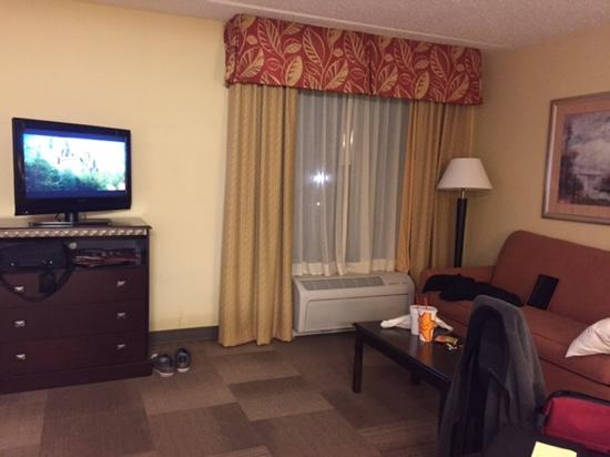Hampton Inn & Suites Panama City Beach-Pier Park Area : yay furniture to sit on unlike standard room