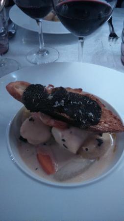 L'Auberge de Thorrenc : poisson crustacés truffes et petits légumes
