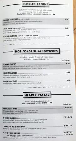 MENU CATERING CORNER BAKERY