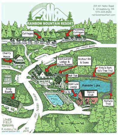 Rainbow Mountain Resort: Resort Map of 25 acres.