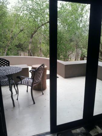 Nselweni Bush Camp: View from bedroom - Unit 2