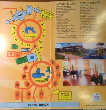 Memories Varadero Map Map of the Memories Varadero Resort   Picture of Memories Varadero