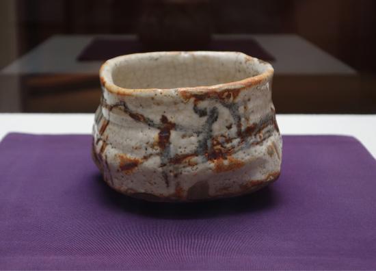 Kosetsu Museum of Art : Tea bowl, Shino type, known as Asahikage