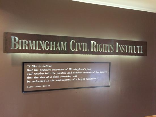 Birmingham Civil Rights Institute: Outstanding visit