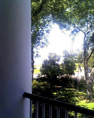 Natchez Pilgrimage Tours Day Tours: The porch at Rosalie Mansion