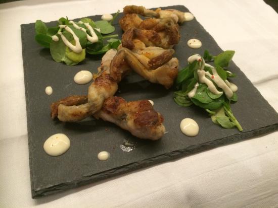 Restaurant Mangetout : poêlée de cuisses de grenouille cresson au raifort