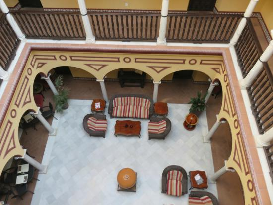Itaca Sevilla: looking down in the hotel, light and airy!