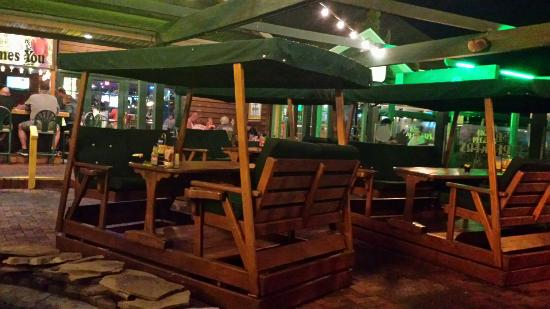 Big Pecker's Bar & Grill: These are the swinging tables at big peckers Ocean City Maryland