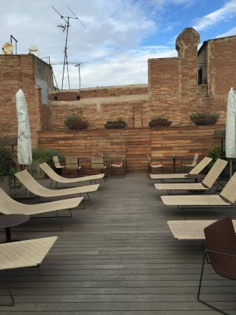 Mercer Hotel Barcelona : roof top deck