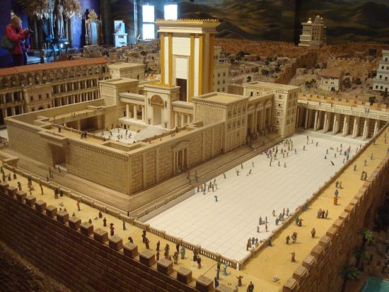 Model Of The Rebuilt Temple In Jerusalem Picture Of Holy