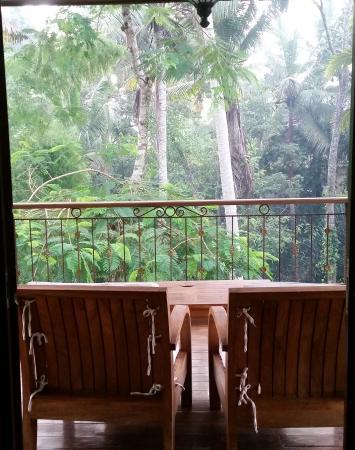 Suara Air Luxury Villa Ubud: 2nd floor villa and view
