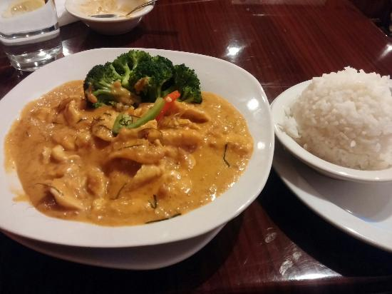 Sila Thai Cuisine: Panang curry with rice
