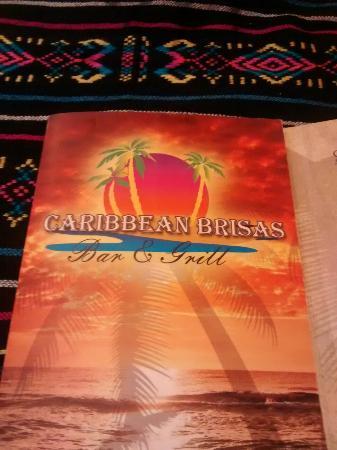 Caribbean Brisas: Very nice menus