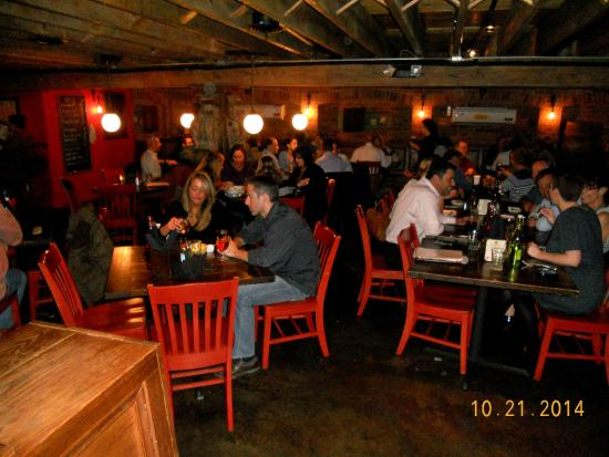 The Trappe door : busy, busy, busy!  Always a good indication of a good place!