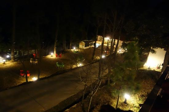 Arcadian Blue Pines Resort - Murree: Well lit at night time