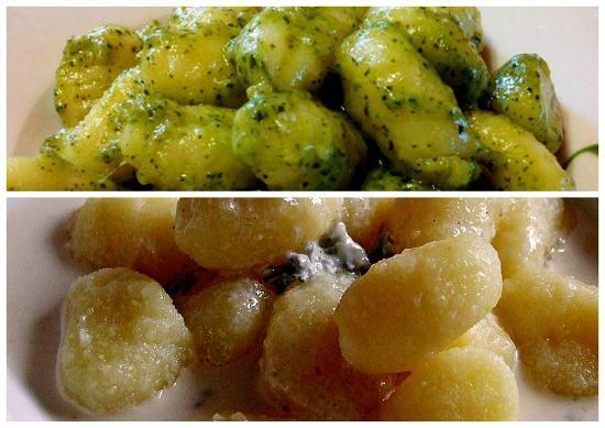 Mediterraneo Spanish & Italian Restaurant : Gnocchi pesto, gnocchi gorgonzola.