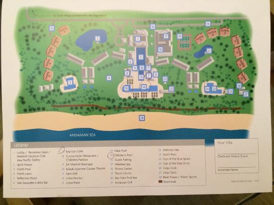 Marriott S Et Beach Club Map Of The Resort