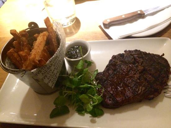 All Bar One Waterloo: Steak and Sweet Potatoes