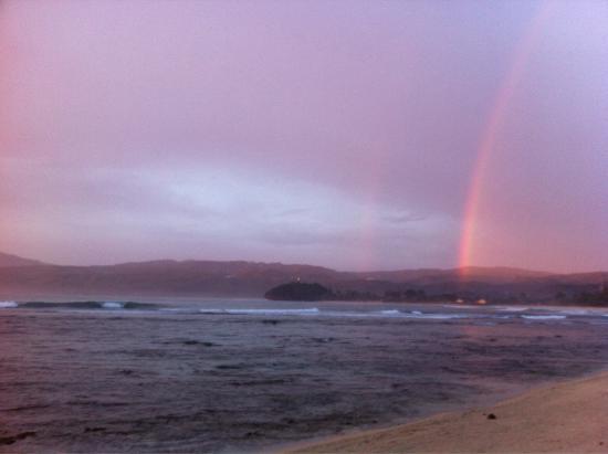 Surfcamp - Palm Beach Krui: Rainbow in krui left