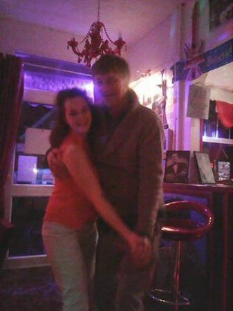 Beeston Lodge : Birthday girl and Nev