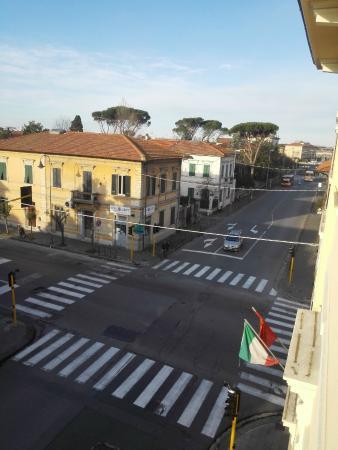 Hotel and street view - Picture of Hotel Soggiorno Athena, Pisa ...