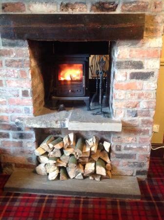 New log burner in the lounge