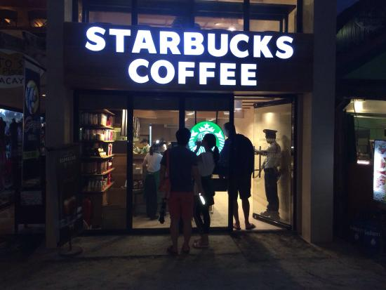 Starbucks: Small store. Friendly crew.