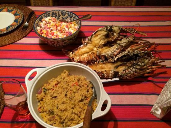 Casa Dorado : one of our delicious dinners prepared by Leonel!