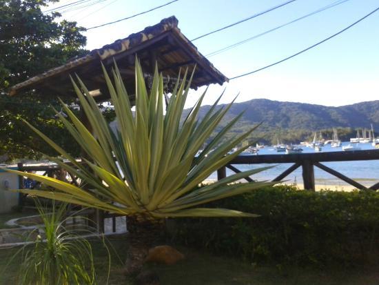 Pousada Caicara: Vista do deck do jardim