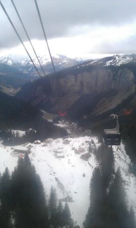 Chalet Hotel Bel 'Alpe : Prodains Express Gondola - view down towards Morzine in the valley