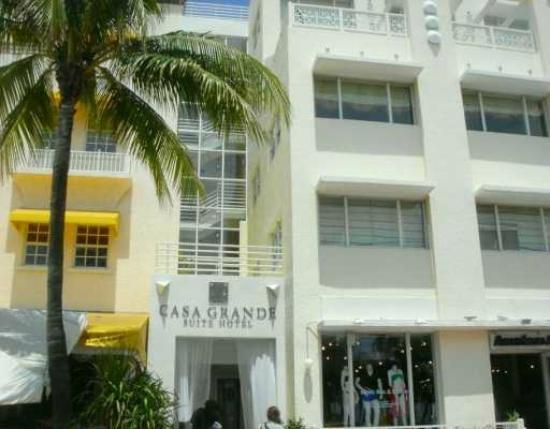 frente do hotel na Ocean Drive Picture of Casa Grande Suite