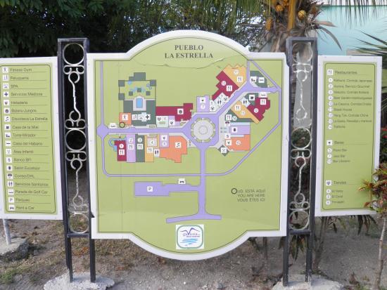 Memories Paraiso Beach Resort Map Of Shopping Village Near Memories Paraiso Azul Resort