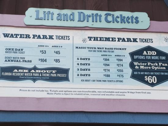 Blizzard Beach: Hope this helps anyone looking to buy tickets