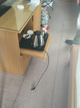 Hilton York: No place for kettle to plug in to