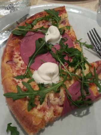 Ristorante Il Siciliano: half of a reindeer pizza