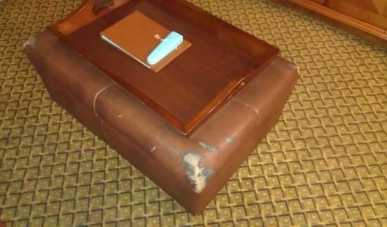 Homewood Suites Ft. Lauderdale Airport & Cruise Port : Ottoman that should not even be in a guest room.
