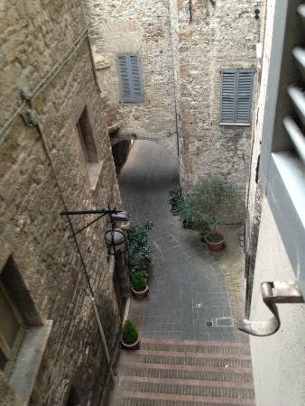 Hotel Dei Priori : View from rear bedroom window...full of character. The room all had views onto another street.
