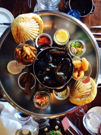 The Newbridge on Usk: Sharing Fish Platter
