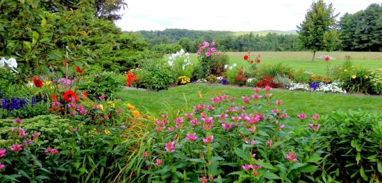 Litchfield, CT: View of  one of the two gardens
