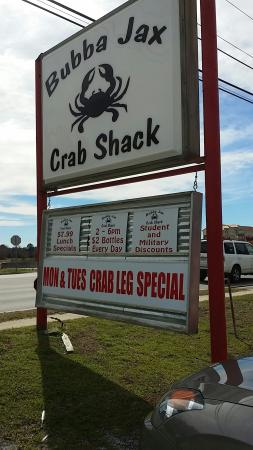 Bubba Jax Crab Shack : Fresh seafood just off the interstate
