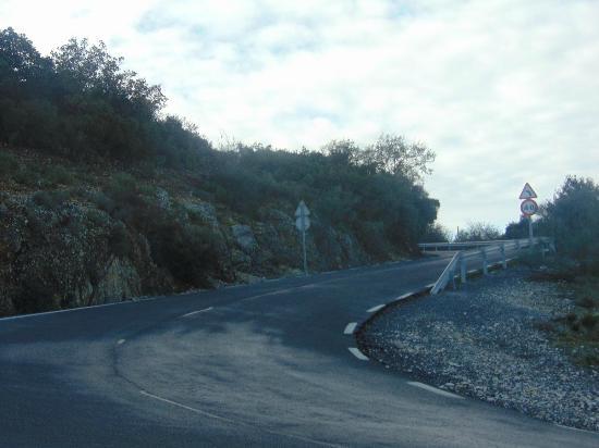 Sierra de Araceli: carretera