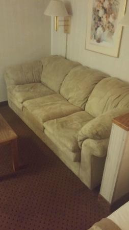 Ramada Limited Bismarck Northeast : dirty, old, couch
