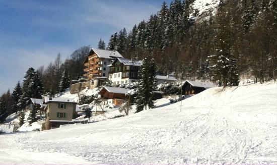 Hotel Le Grand Chalet : Le Grand Chalet from the slopes 2