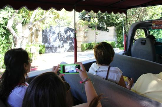 Michael Jackson Mansion Entrance On Hollywood Open Bus