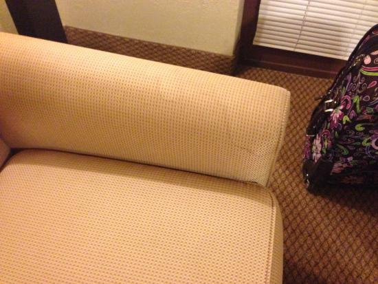 Ramada Mesa Phoenix East Area : Very Stained couch