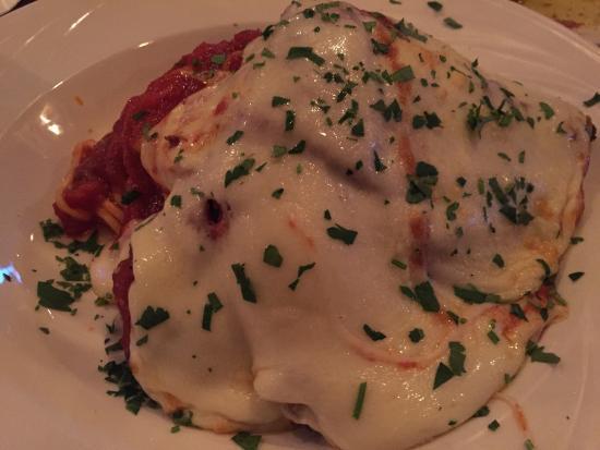 Osteria 166: My veal parmigiana. Fantastic!!