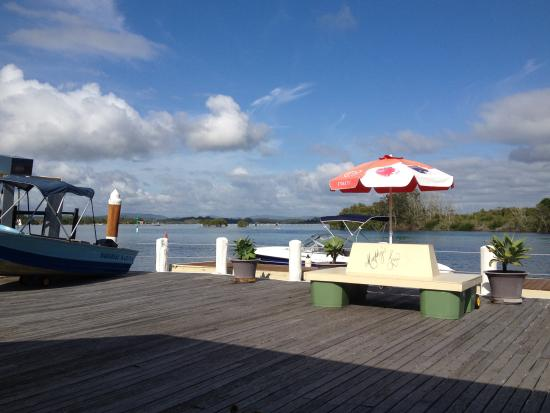 Paradise Marina Cafe: The view over Breckenridge Channel