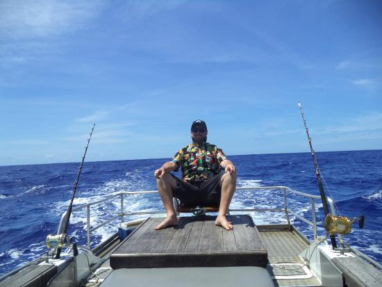 WaHoo Fishing Charters: The hot seat